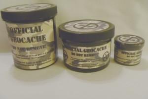 Black Geocache Tubs