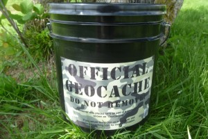 Large Bucket Geocache