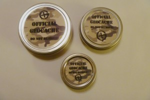 Round Geocaching Containers