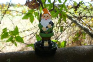 gnome green geocache