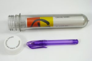 Preform Geocache Tube with Log & Pen