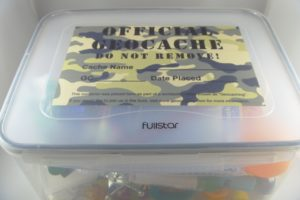 Closed Geocache Tub