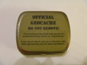 Geocaching Tin Container