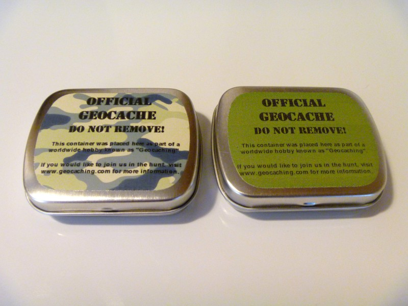 Geocaching Tin Containers