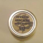 Sm Round Official Geocache Tin